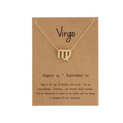 Zodiac Sign Card Necklaces