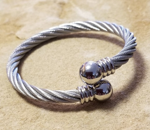 Stainless Cable Cuff/Bracelet