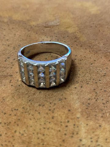 Channel Set Sterling & CZ Ring