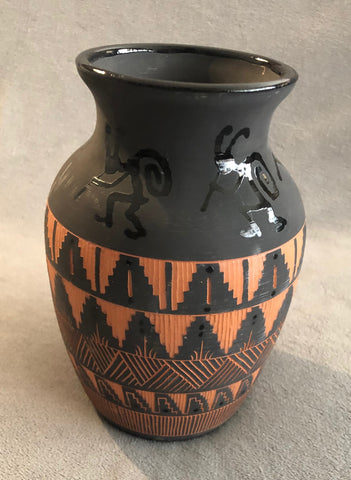 Native American Pottery Vase Signed by Patt Yazzie