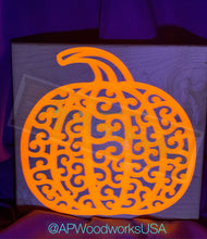 Load image into Gallery viewer, Glow in the Dark Pumpkin Cutting Board