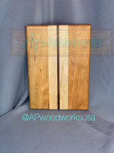 Simply Elegant Cherry, Maple and Walnut Cutting Board