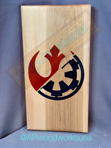 Star Wars Rebel Alliance and Galactic Empire Cutting Board