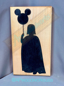 Darth Vader with Mickey Balloon Cutting Board