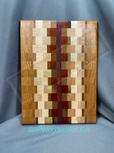 SOLD Maple, Walnut, Cherry, Purple Heart and Padauk Large Cutting board
