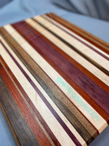 Extra Large Stripped Cutting Board