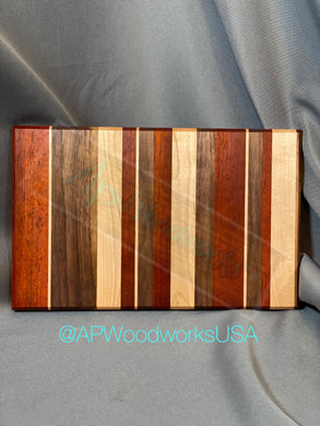 Padauk, Walnut and Maple Striped board
