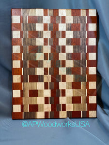 Padauk, Walnut and Maple Pattern Board