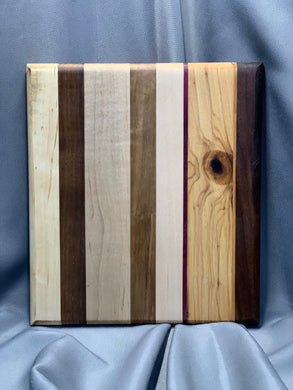 Maple, Walnut, Cherry and Purple Heart Board