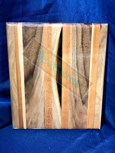 SOLD Cherry and Walnut Natural Cutting Board