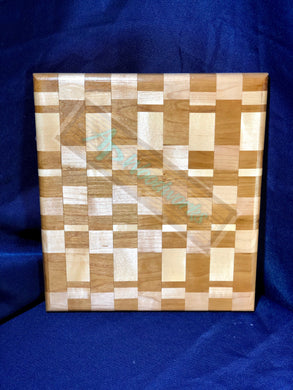 Cherry and Maple Checker Board Cutting Board