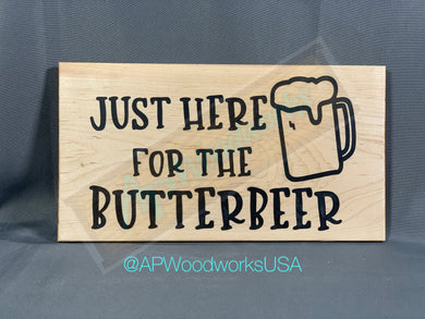 Just Here for the Butterbeer Cutting board