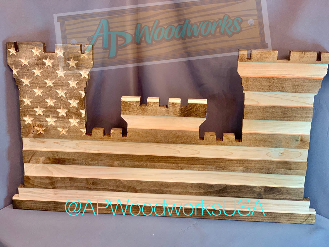 Engineers Castle American Flag