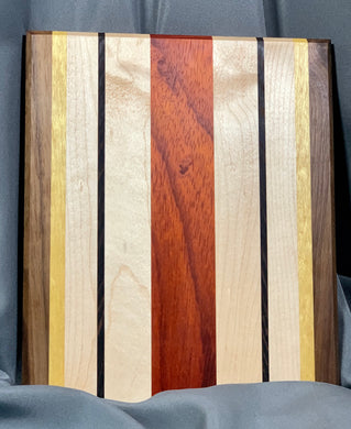 Paduak, Maple, Wenge, Yellow Heart and Walnut Cutting Board