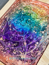 Load image into Gallery viewer, Eye of the Rainbow Resin Art Piece