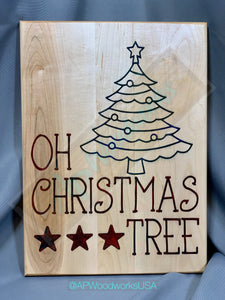 Oh Christmas Tree Board