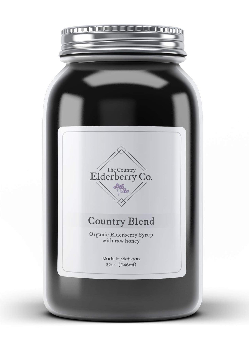 Elderberry syrup made with organic ingredients. Preservative and filler free. Used to treat cold, flu and seasonal allergies. Made in Michigan