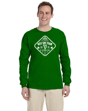 BCC Ski Team St Patrick's Day Long Sleeve t-shirt (Pricing in USD)