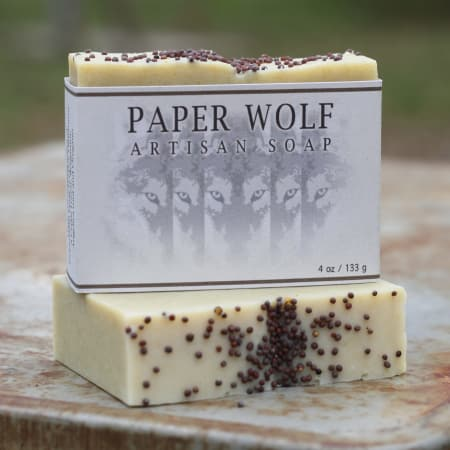Old Factory Paper Wolfe Soap Bar