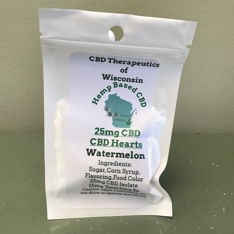 CBD Therapeutics of Wisconsin 25mg-100mg hard candy assorted flavors