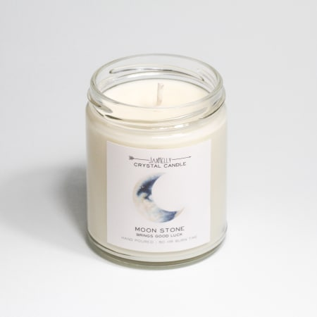 JaxKelly Moonstone Crystal Candle