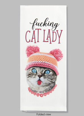 Bad Grandma Hand Towel -F*cking Cat Lady