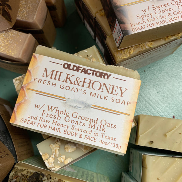 Old Factory Milk & Honey Goats Milk Soap
