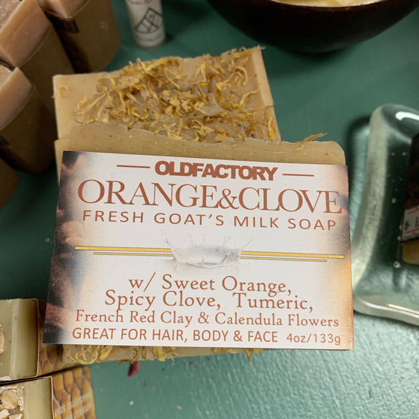 Old Factory Sweet Orange and Clove Fresh Goats Milk Soap