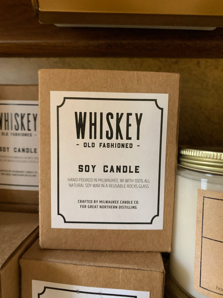 Milwaukee whiskey old fashioned candle