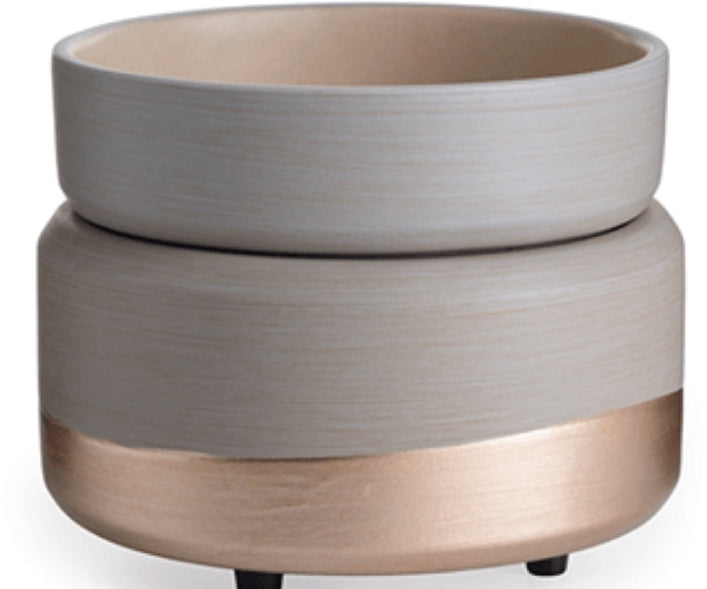 2 in 1 Wax Warmer-Grey & Gold