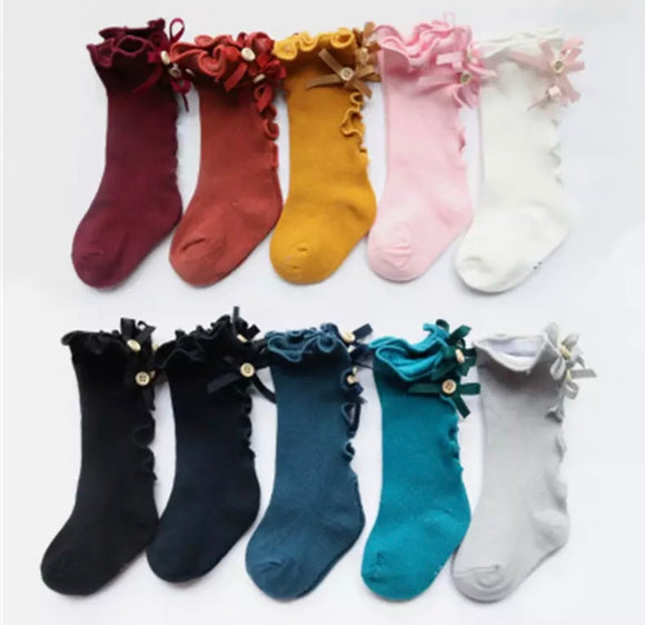 Knee High Socks Ruffle Back~ Ready to Ship