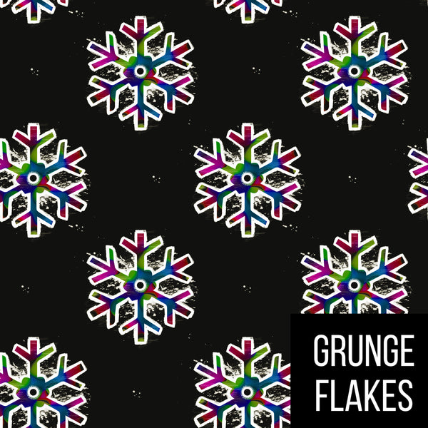 Adult leggings - grunge flakes