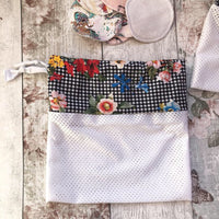 Wash bag for resuable wipes and breast pads