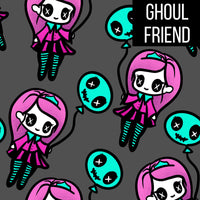Ghoul friend kids shorts