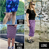 Purple leopard ladies pencil skirt