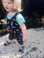 Harem romper/shorties in bolts
