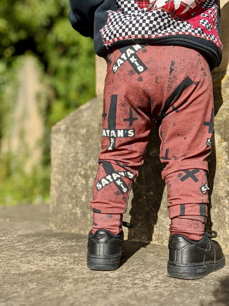 Satan's kid, kid's leggings