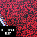 Red leopard print kids leggings