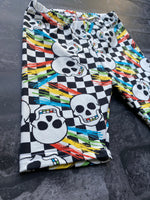 Ready to post Punk skulls cycle shorts