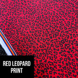 Adult leggings - Red leopard print