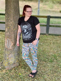 Punk skulls adults leggings