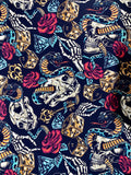 Snakes and skulls Pocket dress
