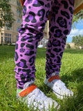 Purple leopard leggings