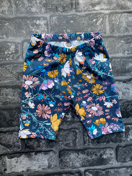 18-24m Ready to post Winter floral kids cycle shorts