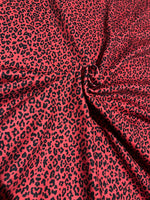 Adults activewear leggings - Red leopard