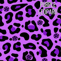 Purple leopard harem shorts