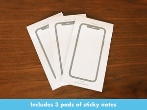 iPhone X Sticky Notes, 3 Pack