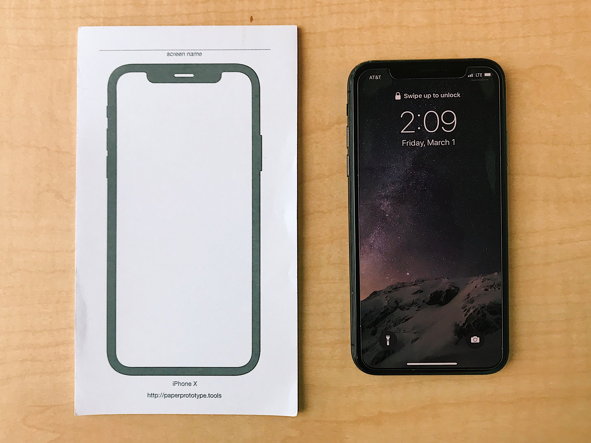 iPhone X Sticky Notes, Single Pad