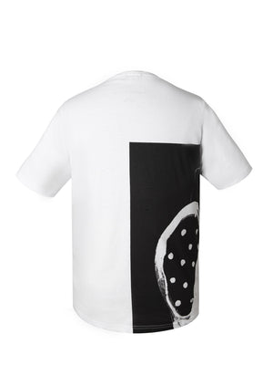 Back of Escaped Dot Short Sleeves Tee with Pocket