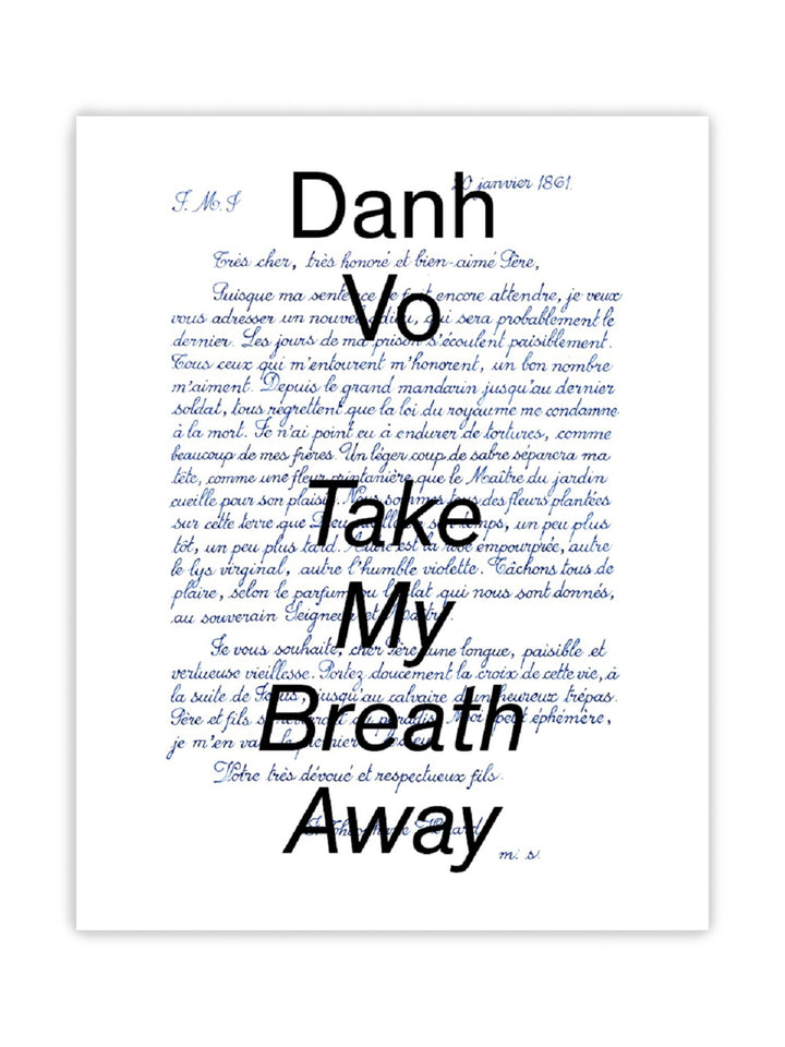 Danh Vo: Take My Breath Away的封面
